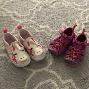 Toddler size 8 VANS and Toddler size 8.5 KEENS